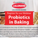 Webinar: Probiotics in Baking | May 19th, 2021 | 1 pm ET
